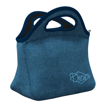 Denim Klutch Lunch Bag