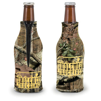 Camo Zippered Bottle Coolie (TM)