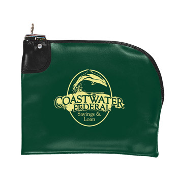 Curved Zipper Locking Bank Bag