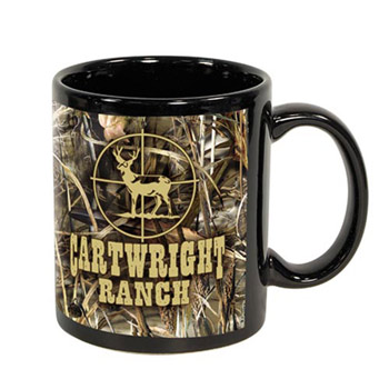 Black Sublimation Mug 11 oz.  - Licensed