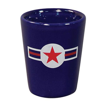 Cobalt Ceramic Shot Glass