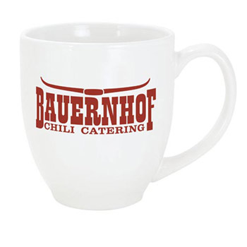 Solid Color Bistro Mug - White